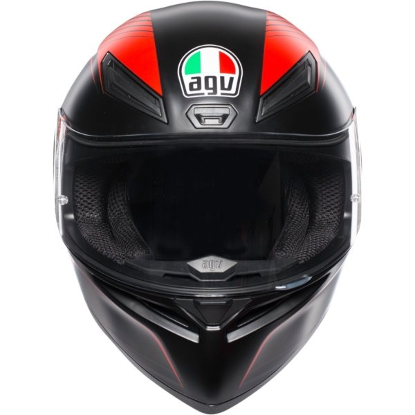 AGV K1 Warm Up Helmet Matt Black Red Size: XL