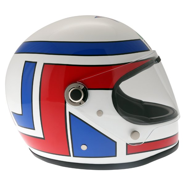 AGV X3000 Lucky White Red Blue Full Face Motorcycle Helmet Right Side
