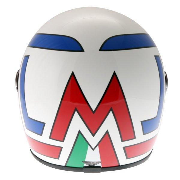 AGV X3000 Lucky White Red Blue Full Face Motorcycle Helmet Back