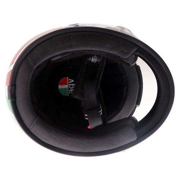 AGV X3000 Lucky White Red Blue Full Face Motorcycle Helmet Inside