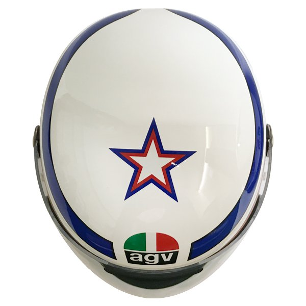 AGV X3000 Lucky White Red Blue Full Face Motorcycle Helmet Top