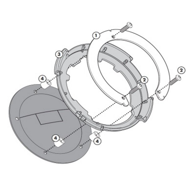 BF05 Tanklock Fitting Kit Tank Bags