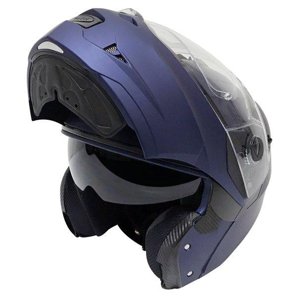 Caberg Duke II Matt Blue Flip front Motorcycle Helmet Flip Open
