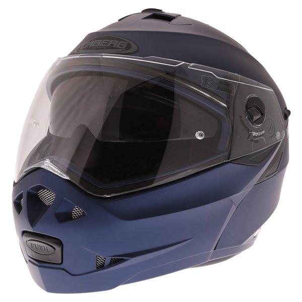 Caberg Duke II Matt Blue Flip front Motorcycle Helmet With Sun Visor