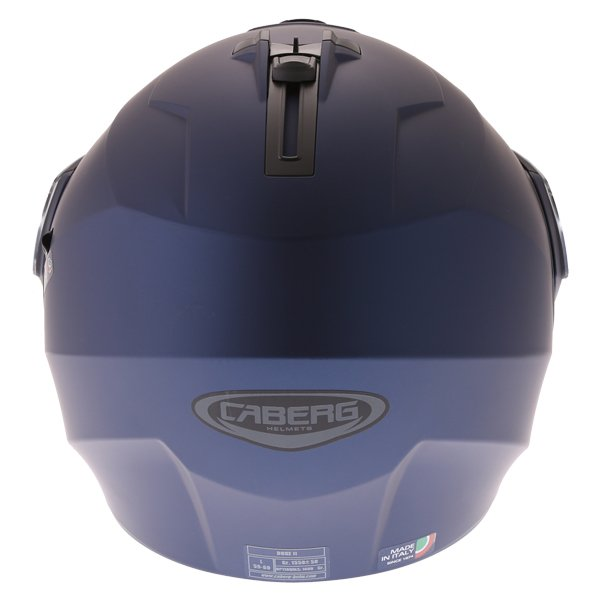Caberg Duke II Matt Blue Flip front Motorcycle Helmet Back