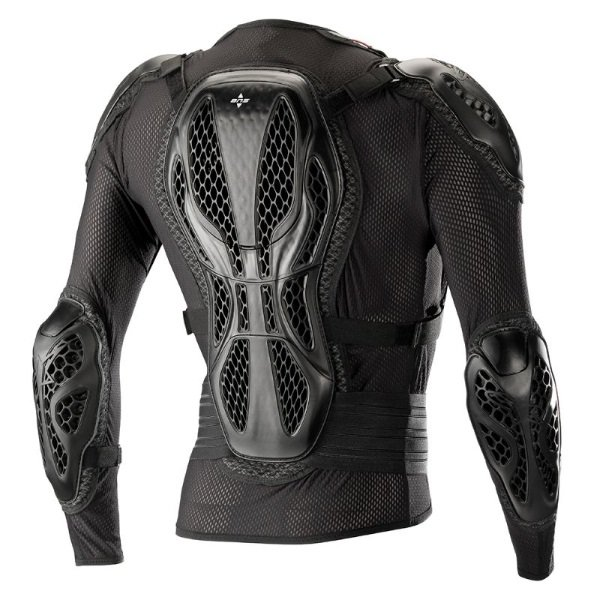 Alpinestars Bionic Action Black Red Motocross Body Armour Jacket Back