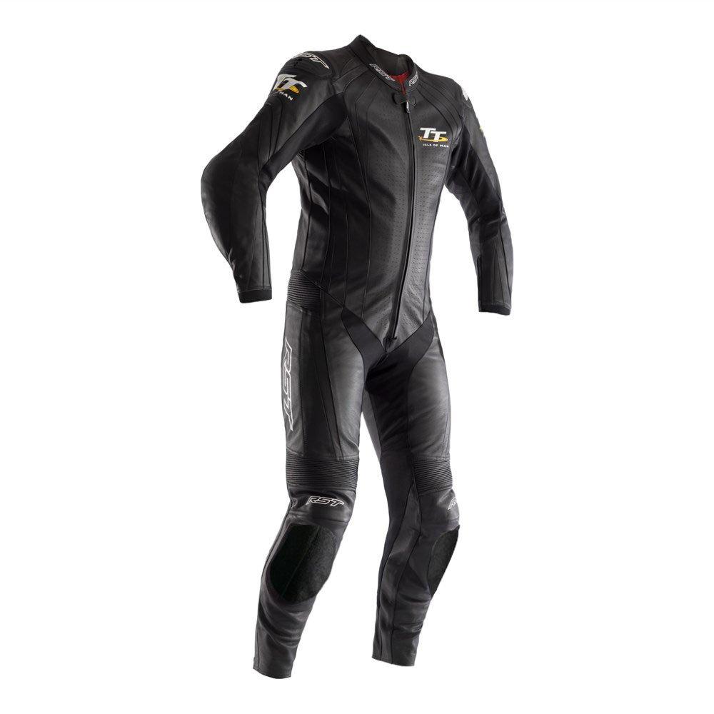 IOM TT Grandstand CE Suit Black Leather Suits