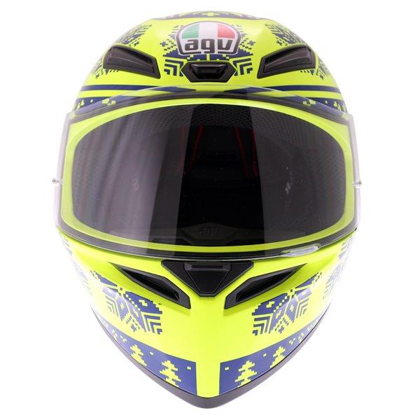AGV K1 Rossi Winter Test 2015 Replica Full Face Motorcycle Helmet Front