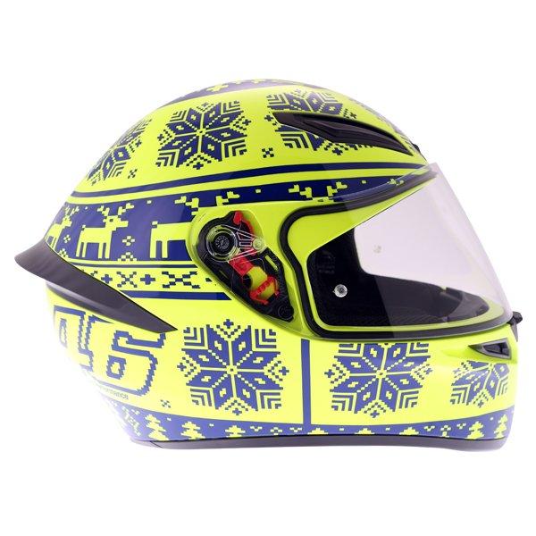 AGV K1 Rossi Winter Test 2015 Replica Full Face Motorcycle Helmet Right Side