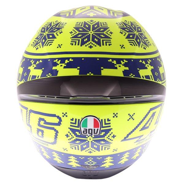 AGV K1 Rossi Winter Test 2015 Replica Full Face Motorcycle Helmet Back