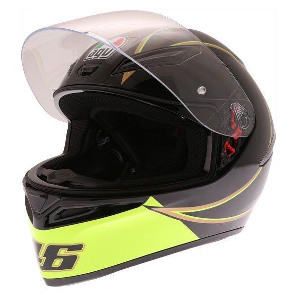 AGV K1 Gothic 46 Full Face Motorcycle Helmet Open Visor