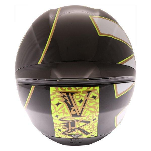 AGV K1 Gothic 46 Full Face Motorcycle Helmet Back