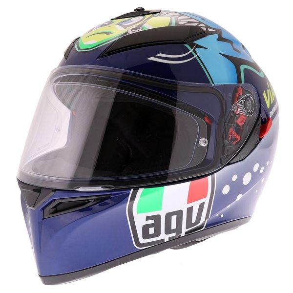 AGV K3 SV Rossi Misano 2015 Replica Full Face Motorcycle Helmet Front Left