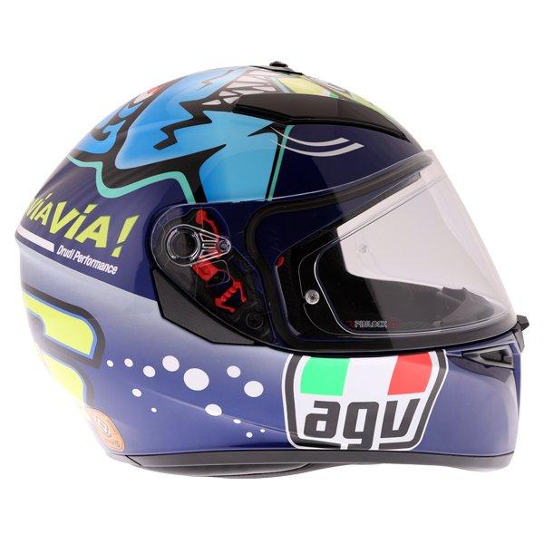 AGV K3 SV Rossi Misano 2015 Replica Full Face Motorcycle Helmet Right Side