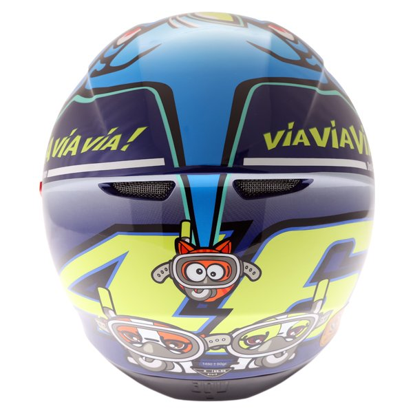 AGV K3 SV Rossi Misano 2015 Replica Full Face Motorcycle Helmet Back