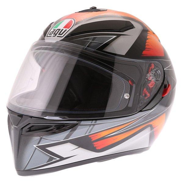 AGV K3 SV Liquefy Black Orange Full Face Motorcycle Helmet Front Left