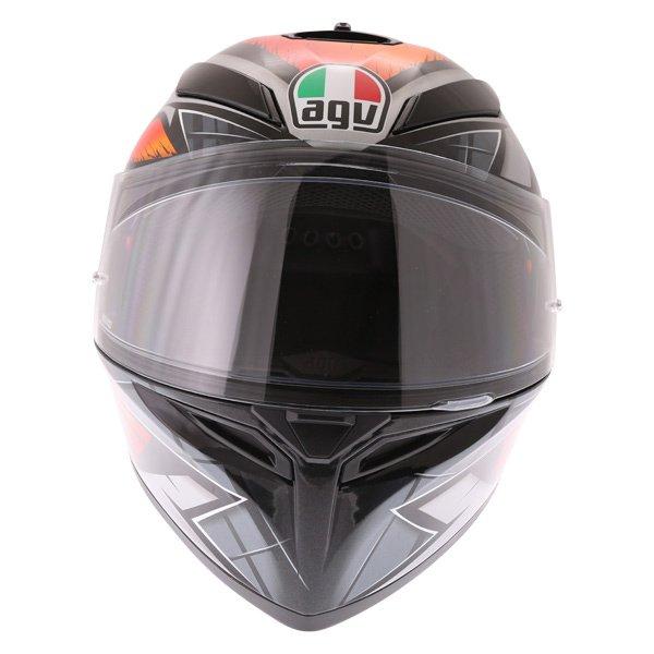 AGV K3 SV Liquefy Black Orange Full Face Motorcycle Helmet Front