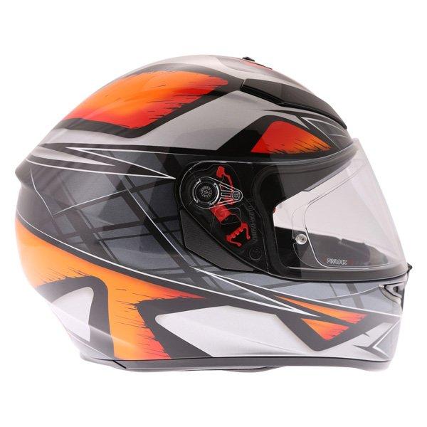 AGV K3 SV Liquefy Black Orange Full Face Motorcycle Helmet Right Side
