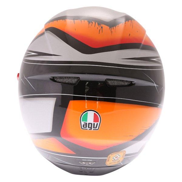 AGV K3 SV Liquefy Black Orange Full Face Motorcycle Helmet Back