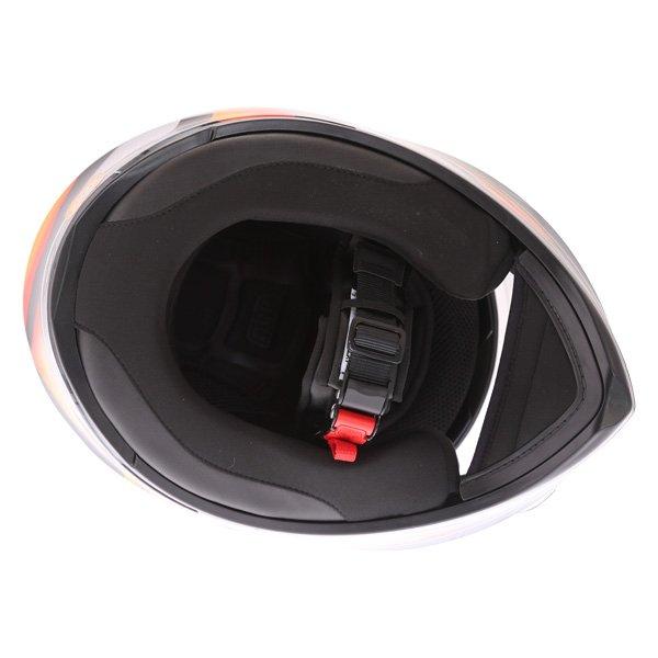 AGV K3 SV Liquefy Black Orange Full Face Motorcycle Helmet Inside