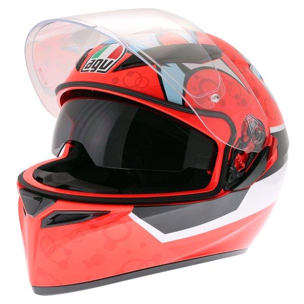 AGV K3 SV Attack Full Face Motorcycle Helmet Open With Sun Visor