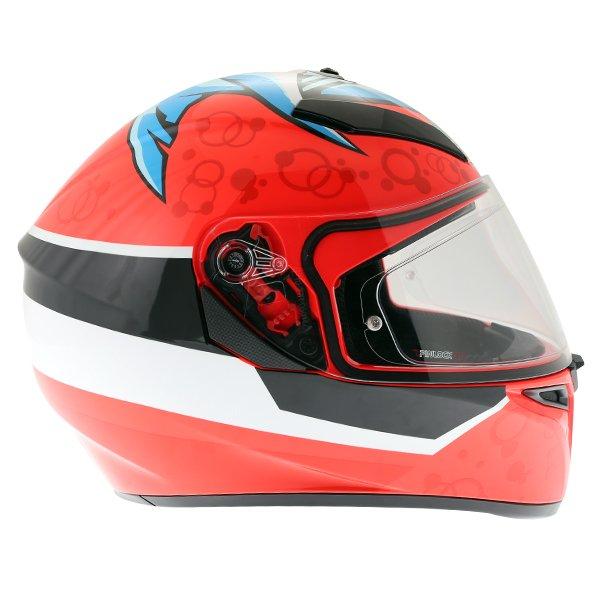 AGV K3 SV Attack Full Face Motorcycle Helmet Right Side