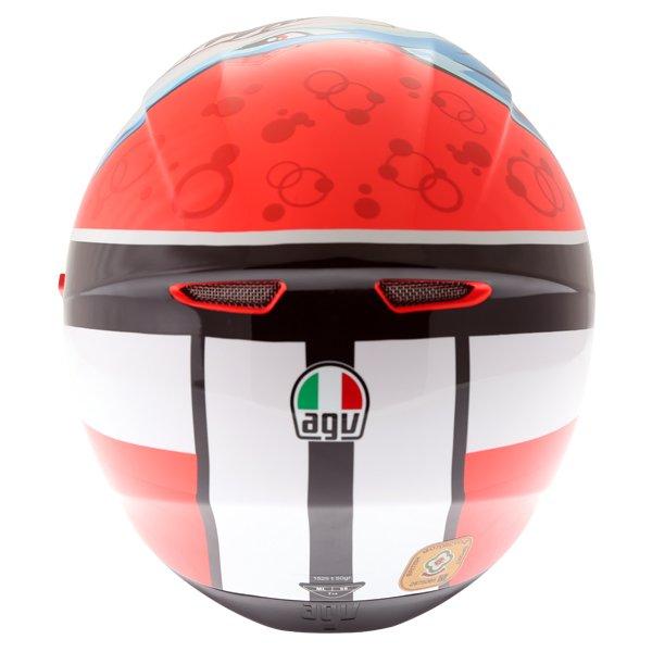 AGV K3 SV Attack Full Face Motorcycle Helmet Back