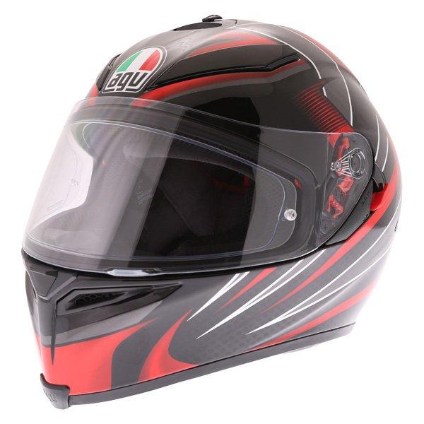 K5-S Hurricane 2 Helmet Black Red