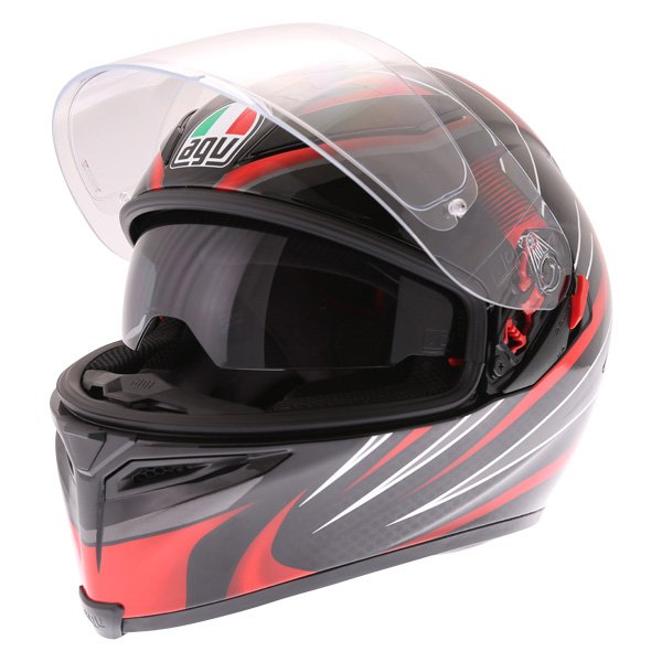 AGV K5-S Hurricane 2 Black Red Full Face Motorcycle Helmet Open With Sun Visor