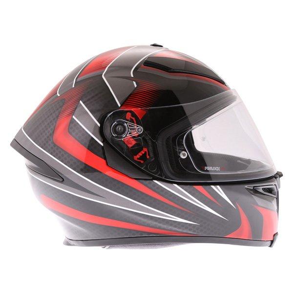 AGV K5-S Hurricane 2 Black Red Full Face Motorcycle Helmet Right Side