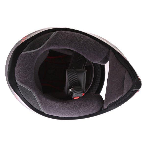 AGV K5-S Hurricane 2 Black Red Full Face Motorcycle Helmet Inside