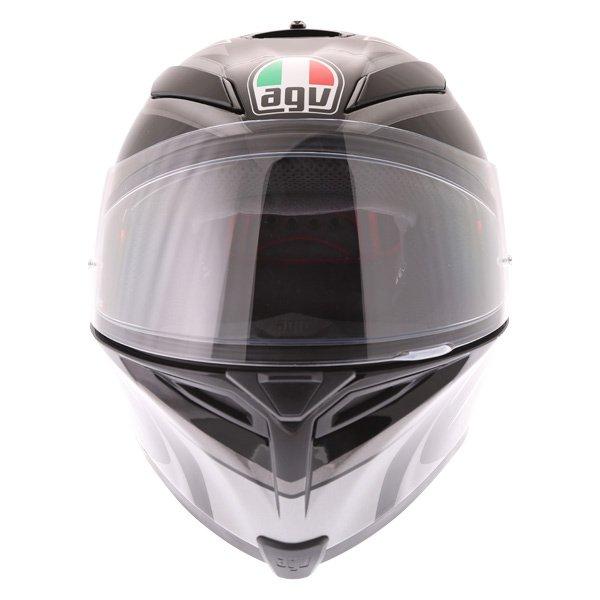 AGV K5-S Hurricane 2 Black Silver Full Face Motorcycle Helmet Front