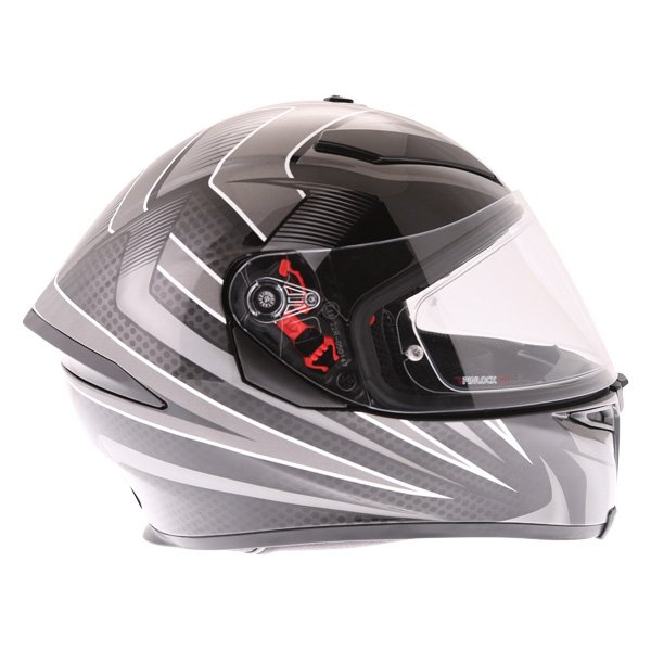 AGV K5-S Hurricane 2 Black Silver Full Face Motorcycle Helmet Right Side