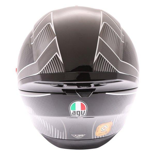 AGV K5-S Hurricane 2 Black Silver Full Face Motorcycle Helmet Back