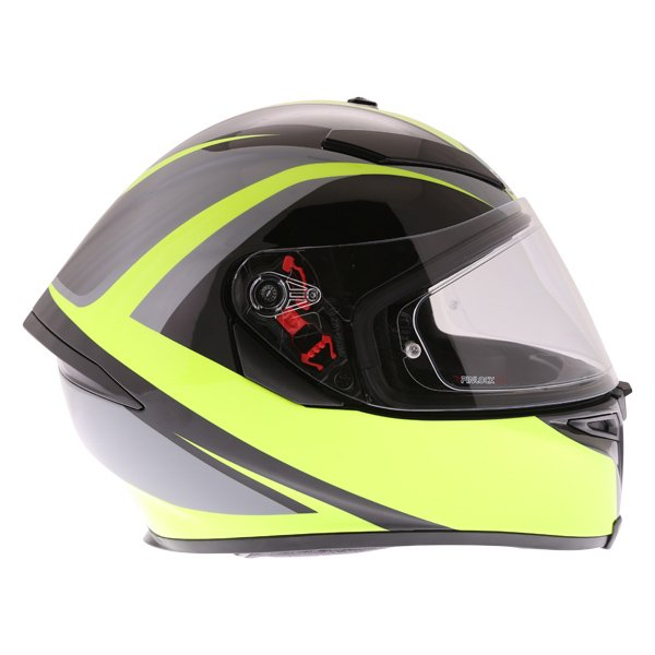 AGV K5-S Typhoon Black Grey Flo Yellow Full Face Motorcycle Helmet Right Side