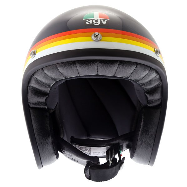 AGV X70 Riviera Blue Open Face Motorcycle Helmet Front