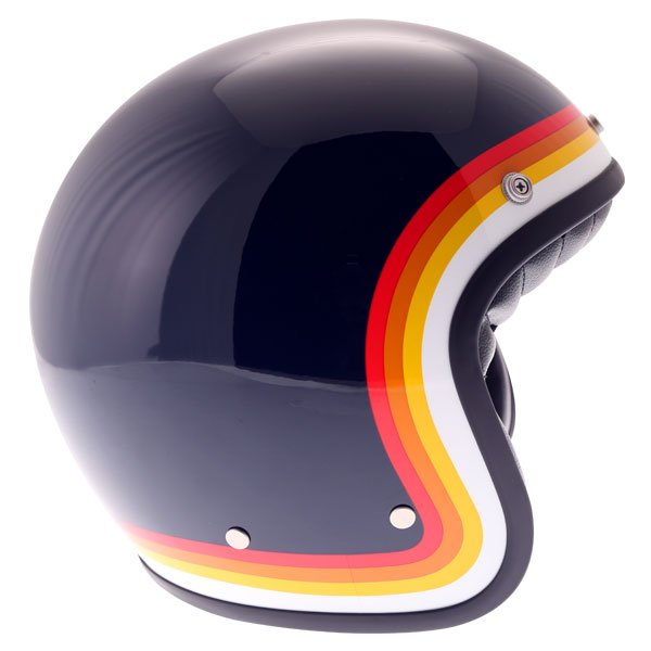 AGV X70 Riviera Blue Open Face Motorcycle Helmet Right Side