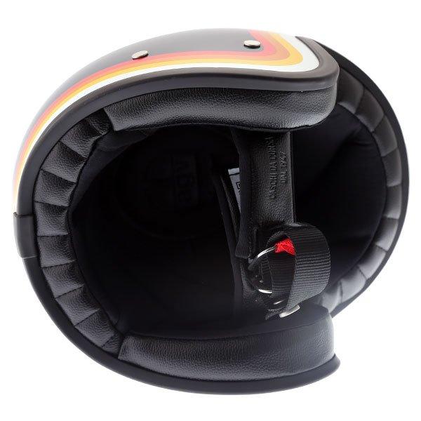 AGV X70 Riviera Blue Open Face Motorcycle Helmet Inside