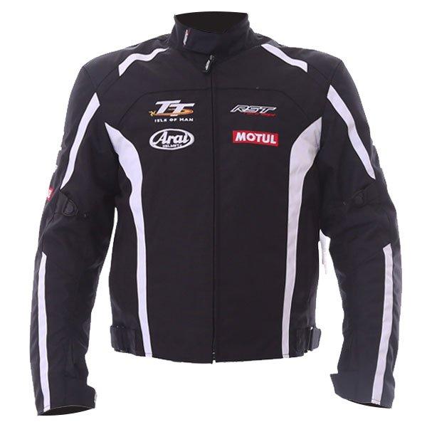 IOM TT Team CE Textile Jacket Black White RST Clothing