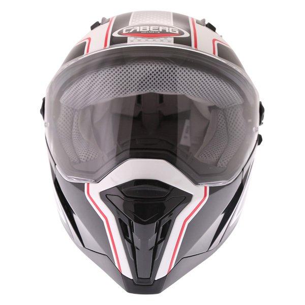 Caberg Stunt Blade White Black Red Full Face Motorcycle Helmet Front