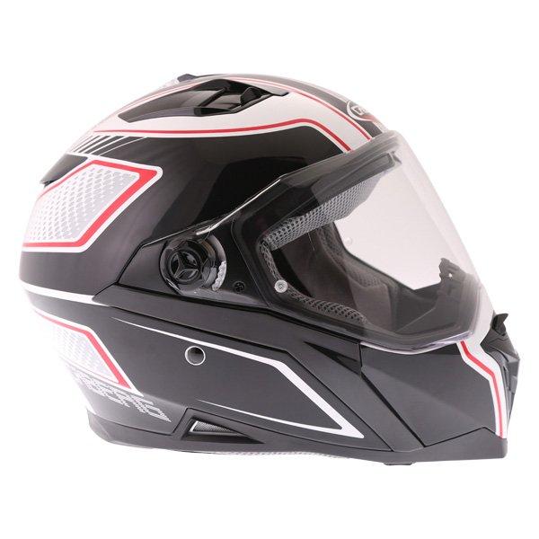 Caberg Stunt Blade White Black Red Full Face Motorcycle Helmet Right Side