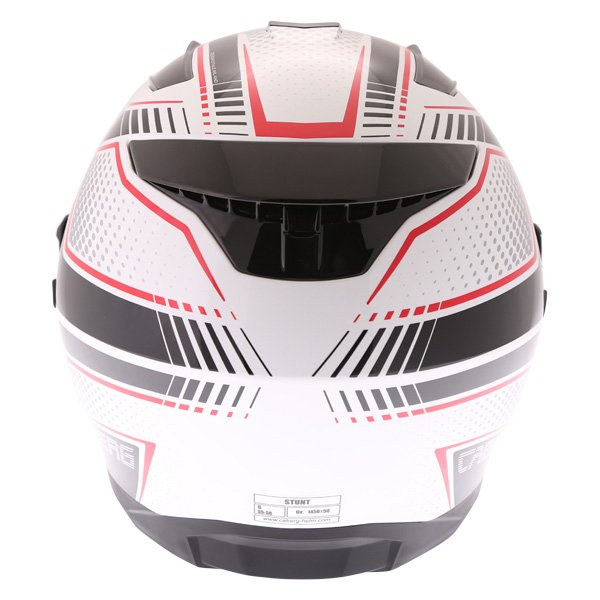Caberg Stunt Blade White Black Red Full Face Motorcycle Helmet Back