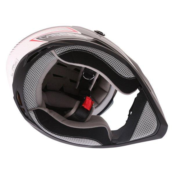 Caberg Stunt Blade White Black Red Full Face Motorcycle Helmet Inside