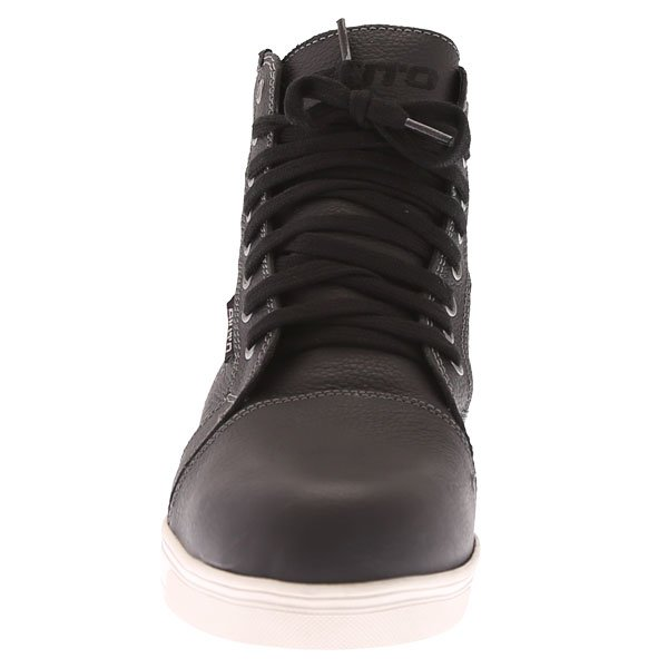 Akito Citizen Black Short Waterproof Motorcycle Boots Front
