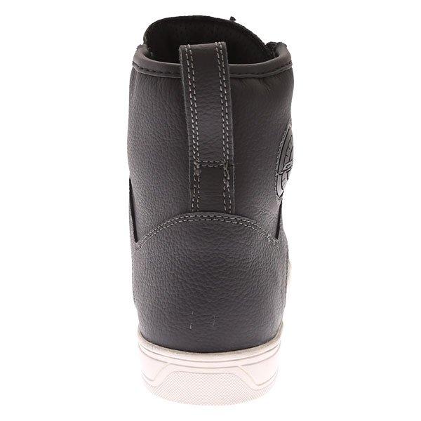 Akito Citizen Black Short Waterproof Motorcycle Boots Heel