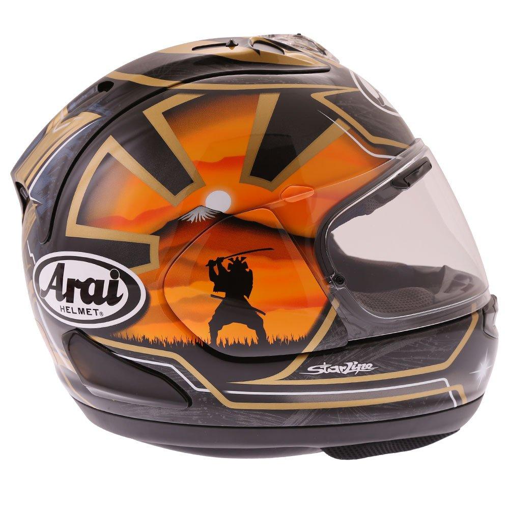 Arai RX-7V Pedrosa Spirit Gold Full Face Motorcycle Helmet Open Visor