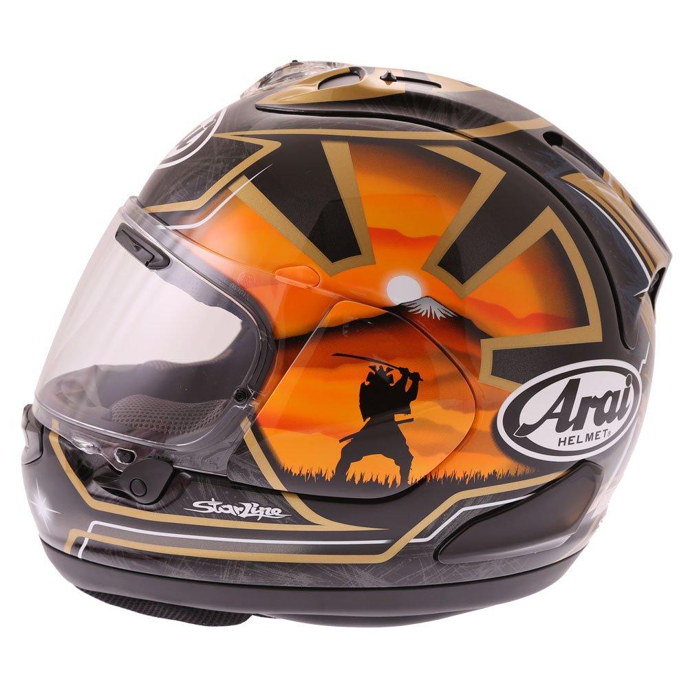Arai RX-7V Pedrosa Spirit Gold Full Face Motorcycle Helmet Back