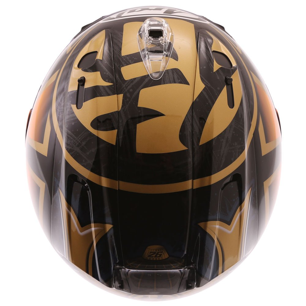 Arai RX-7V Pedrosa Spirit Gold Full Face Motorcycle Helmet Inside