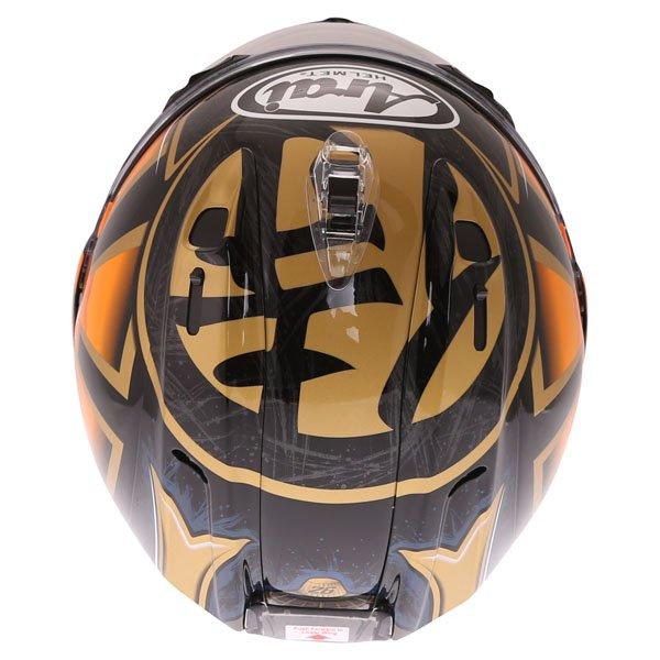Arai RX-7V Pedrosa Spirit Gold Full Face Motorcycle Helmet Top