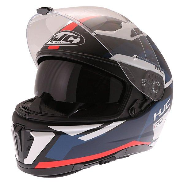 HJC I70 Elim Red Black Blue White Full Face Motorcycle Helmet Open With Sun Visor